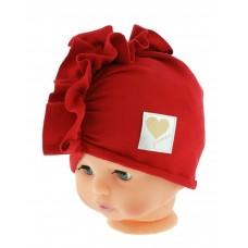 Czapka turban bawełniana  44-48  czerwona